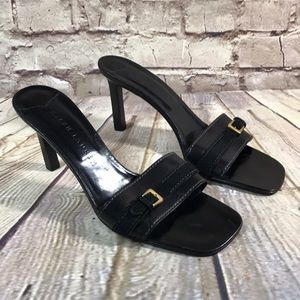 RALPH LAUREN SHIES SANDALS HEELS Black SIZE 8